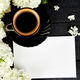 Cup of coffee with bouquet hydrangea - PhotoDune Item for Sale