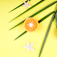 Orange fruit, starfish and palm leaves - PhotoDune Item for Sale