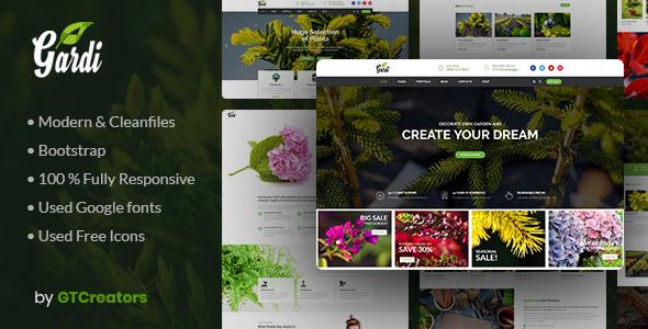 Gardi | Gardening and Landscaping WordPress Theme Free Download | Nulled