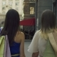 Shopper Women Turning Back Smiling on City Street - VideoHive Item for Sale