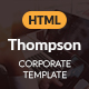 Thompson Corporate HTML Template - ThemeForest Item for Sale