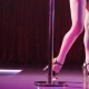 Young Sexy Striptease Dancer Moving in High Heels Shoes on Stage in Strip Night Club, Pole Dancing - VideoHive Item for Sale