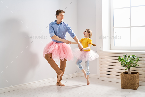 father and daughter playing - Stock Photo - Images