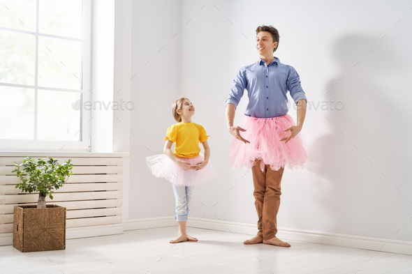 Daddy and his child playing - Stock Photo - Images