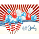 Independence Day Abstract Background with Balloons - GraphicRiver Item for Sale