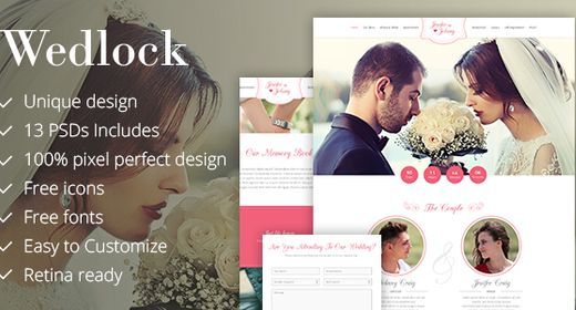 Wedlock, The most awaiting design template