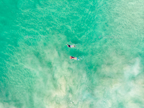 Surfers Out At Sea - Stock Photo - Images