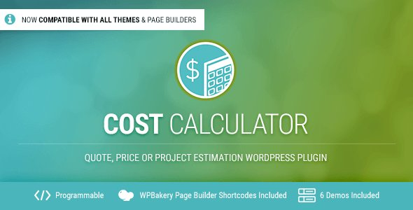 Cost Calculator - WordPress Plugin by BoldThemes CodeCanyon