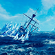 Ancient Ship And Iceberg - VideoHive Item for Sale