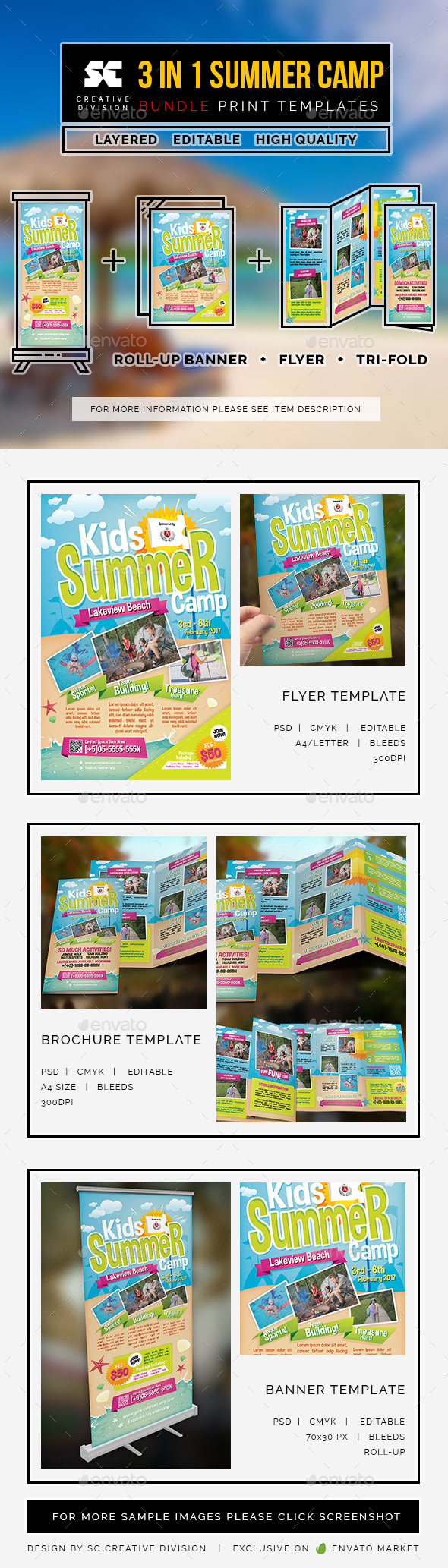 Kids Summer Camp Bundle 3 In 1 - Miscellaneous Print Templates