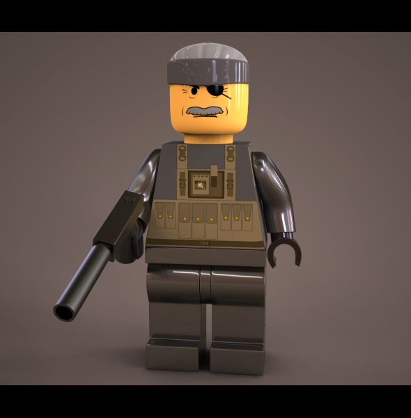 Lego Solid snake - 3DOcean Item for Sale