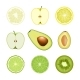 Set of Isolated Fruit Slices - GraphicRiver Item for Sale
