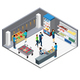 Grocery Store Isometric Interior - GraphicRiver Item for Sale