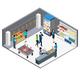 Grocery Store Isometric Interior