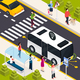 Autonomous Vehicle Isometric Composition - GraphicRiver Item for Sale