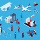 Airport Isometric Icons Set - GraphicRiver Item for Sale