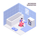Bath Room Repair Isometric Composition - GraphicRiver Item for Sale