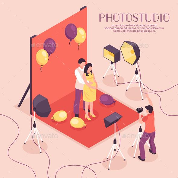 Photo Studio Illustration - People Characters