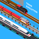 Train Evolution Isometric Composition - GraphicRiver Item for Sale