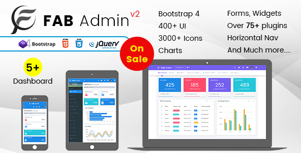 Fab Admin – Responsive Admin Dashboard Template Web App