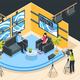 TV Studio Isometric Illustration - GraphicRiver Item for Sale