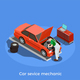 Motor Mechanic Isometric Background - GraphicRiver Item for Sale