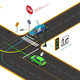 Road Intersection Isometric Concept - GraphicRiver Item for Sale