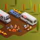 Friendly Camping Isometric Composition - GraphicRiver Item for Sale
