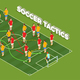 Soccer Tactics Isometric Background - GraphicRiver Item for Sale