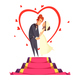Newlyweds Cartoon Composition - GraphicRiver Item for Sale