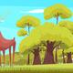 Forest Animal Feeding Cartoon Illustration - GraphicRiver Item for Sale