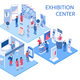 Exhibition Center Isometric Compositions - GraphicRiver Item for Sale