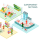 Supermarket Sections Isometric Compositions - GraphicRiver Item for Sale