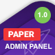 Paper Bootstrap 4 Admin Template - ThemeForest Item for Sale