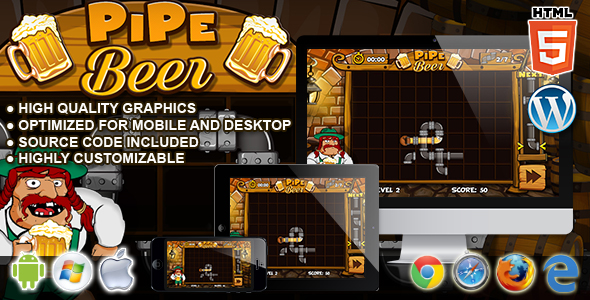 PipeBeer - HTML5 Classic Game - CodeCanyon Item for Sale