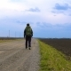 A Young Tourist Travels with a Backpack on His Shoulders. - VideoHive Item for Sale