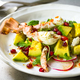 Crab with Avocado, Rocket and Pomegranate Salad by Lime and Chili Vinaigrette - PhotoDune Item for Sale