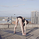 Woman Fitness Stretching and Push-ups