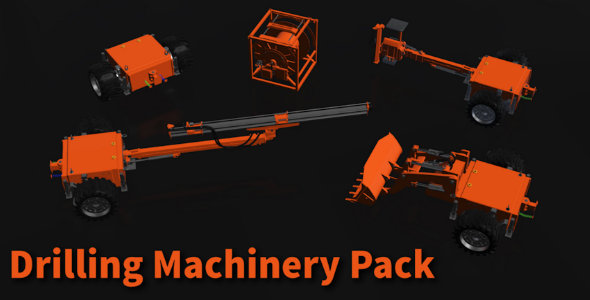 Drilling Machinery Pack - 3DOcean Item for Sale