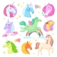 Unicorn Vector Cartoon Kids Characters