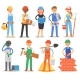 Builder Vector Constructor People Character