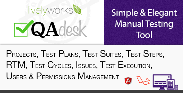 QA Desk - Simple & Elegant Manual Test Management Tool