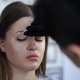 Makeup Artist Makes Eyebrow Staining with Natural Dyes, Toning with Henna, Cosmetic Procedures in