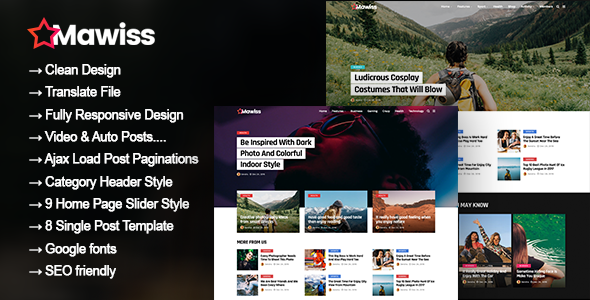 Mawiss - WordPress Blog Magazine Theme
