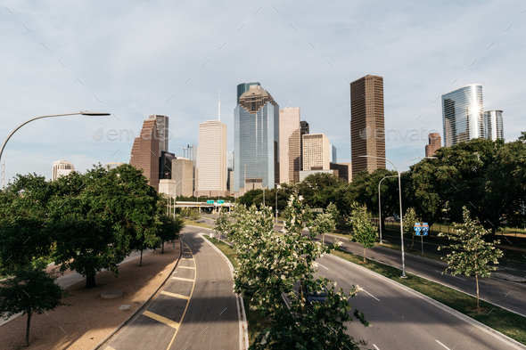 Houston Skyline - Stock Photo - Images