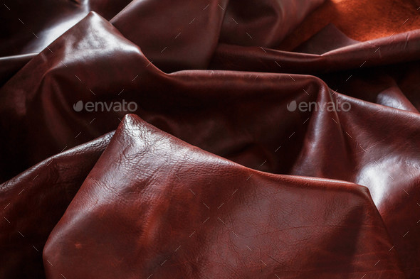 Genuine leather on the dark - Stock Photo - Images