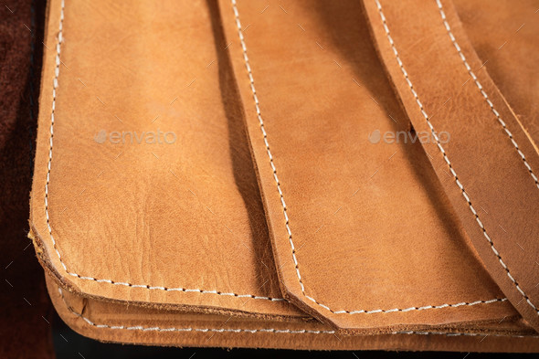 leather bag with the background - Stock Photo - Images