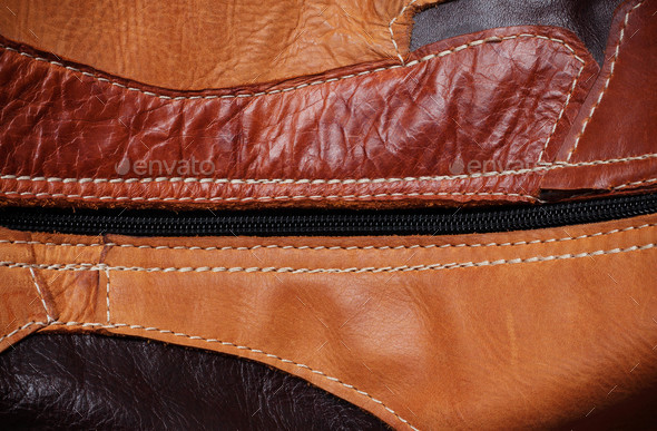 surface of leather with the background - Stock Photo - Images