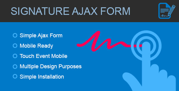 Signature Form - Ajax form with canvas signature            Nulled