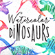 Watercolor Dinosaurs - GraphicRiver Item for Sale